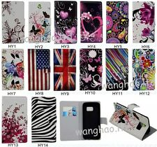 Hybrid Pretty Printed Book Design Wallet Flip PU Leather Case Cover For Phones