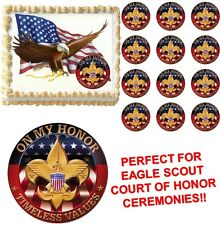 Eagle Scout ON MY HONOR Court of Honor Ceremony Edible Cake Topper-All Sizes NEW