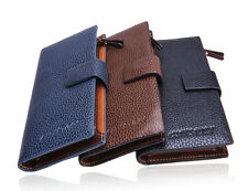 3 Colors Fashion Holder Unisex PU Leather ID Cards Purse Clutch Zip Long Wallet