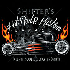 Shifters Custom Hot Rod Garage Chop & Drop It Car T-Shirt Tee