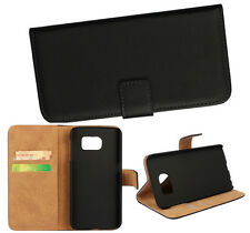 Wallet With Stand Genuine leather Whole cover case For Samsung Galaxy Phone