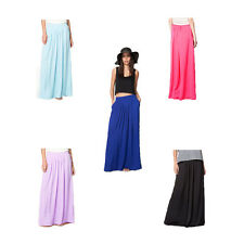 Womens Maxi Skirt Pleated Long Skirts Casual Holiday Summer Beach Party Dress