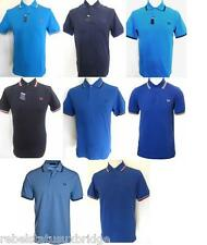 FRED PERRY T-Shirt Men's Twin Tipped Pique Polo Regular Fit M1200 Blues XS - XXL