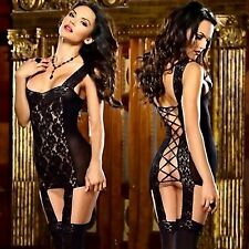 Ladies Sexy Erotic Black Lace Lingerie UK Seller! + Free Delivery!
