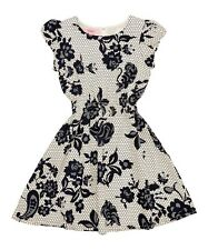 BNWT Girls Beetlejuice Navy & White Floral Honeycomb Dress - Age Range 2 - 6 Y