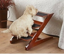 Pet Stairs Dogs Cats Foldable Steps Wood Assist Home Bed Couch Sofa Pooch Puppy