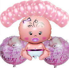 13pcs Baby Boy Girl Birthday Party Decorations Baby Shower Balls Foil Balloons