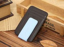 New Genuine Leather Wallet Credit Card ID Holder Money Clip Black