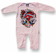 Six Bunnies Mum Dad Romper Rockabilly Alternative Onesie Bodysuit Tattoo Punk