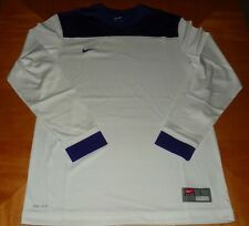 Nike Men's Shoot Around Long Sleeve Shirt Color white and Purple New