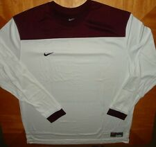 Nike Men's Shoot Around Long Sleeve Shirt Color white and Maroon New