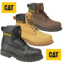 """Mens Caterpillar Holton Steel Toe Cap Safety Leather Work Boots CAT 6"""""""