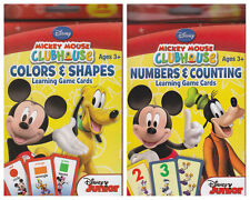 New Disney Mickey Learning Cards (Colors & Shapes, Numbers & Counting)