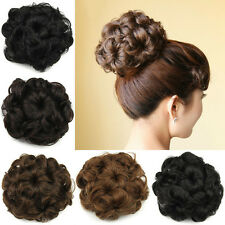 50g Wavy Curly Synthetic Hair Bun Drawstring Scrunchie Chignon Hair Piece SP014