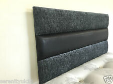 CHESTERSHIRE LUXURIOUS 2 TONE BLACK HEADBOARD ALL SIZES AVAILABLE BEST ON EBAY