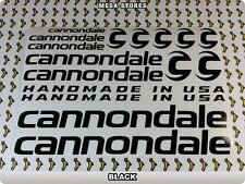 CANNONDALE Stickers Decals Bicycles Bikes Cycles Frames Forks Mountain BMX 60D
