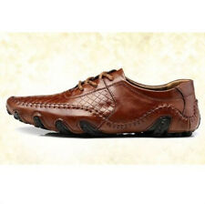 Mens Fashion Casual dress leather lace up flat comfy lined driving shoes NEW SZ