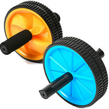 Dual ABS Workout Exerciser Fitness Gym Roller Exercise Abdominal Roller Wheel