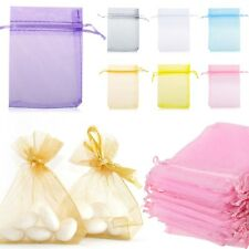 100pcs Organza Gift Bags Jewellery Candy Packing Pouches Wedding Party Favours