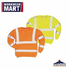 High Visibility Sweatshirt Work Safety Hi Vis Reflective Class 3 Portwest B303