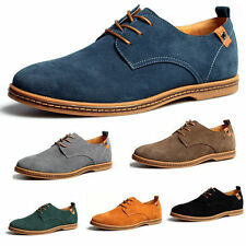 Suede European style leather Shoes Men's oxfords Casual Multi Size 5 color