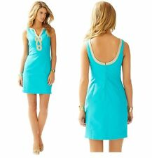 2015 New $188.00 Lilly Pulitzer Bentley V-neck Shift Dress Color Searulean Blue