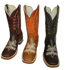 Mens Brand Name Western Square Toe  Cowboy Boot Pull Up Style #C03