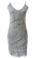 Vintage Art Deco 1920s Flapper Great Gatsby Fringe Charleston Dress FBE-FN688