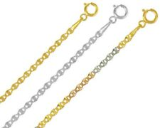 14K Solid Yellow & White Gold  Italy Gucci Star Chain Necklace