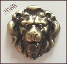 Rare Solid Polished Brass Lion Head Push Button Door Bell in Lot of Finishes