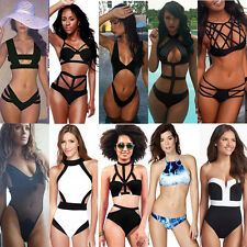 2017 Sexy Women Push Up Padded Bra Bandage Bathing Suit Monokini Bikini Swimwear