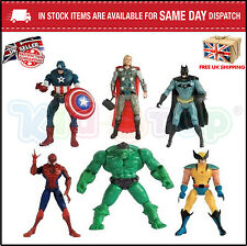 "5 ""Pollici SUPEREROI ACTION FIGURE Giocattoli Avengers x Uomini BATMAN SPIDERMAN THOR HULK"