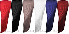 NEW GIRLS RUCHED LOOK SKIRT WOMEN LONG ASYMMETRIC GYPSY MAXI DRESS SIZES 8-12