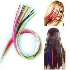Long Straight Multicolor Grizzly Feather Hair Extensions Rooster With Beads Free