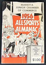 VINTAGE 1956 ALL-SPORTS ALMANAC Marietta Junior Chamber of Commerce