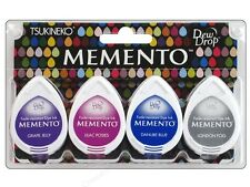 TSUKINEKO Dew Drop 4-Ink Sets - Brilliance - Memento - Versa Magic - YOU CHOOSE!