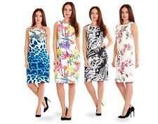 Ladies Summer Bodycon Floral Party Dress Wedding Evening Formal White Midi