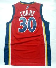 Golden State Warriors Stephen Curry mens retro Jersey RED Stitched