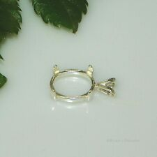 (6x4 - 50x40) OVAL Cabochon (CAB) Sterling Silver Pendant Setting