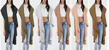 New Ladies Italian Long Waterfall Jacket Women Sleevless Coat Waistcoat Look top