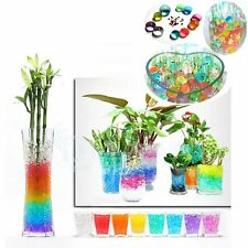 500PCS Bead Jelly Crystal Soil Mud Water Pearl Gel Magic Plant Flower Ball Decor