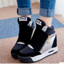 New Fashion Womens Girls High Top Sneakers Mesh Casual Trainer Zip Boots Casual