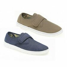 Gordini Mens Padded Lined Casual Comfort Adjustable Velcro Loafers Shoes