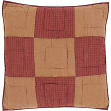 Ninepatch Accessories Burgundy & Tan Euro Pillow Shams - Toss Pillow VHC Shams