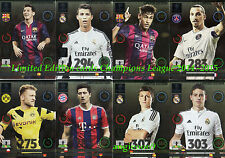 Adrenalyn Xl Champions League 2014 / 2015 Panini Limited Edition Cards