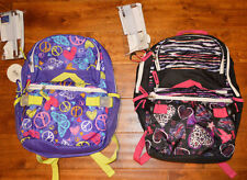 Girl's Fashion Book Bag & Lunch Bag Combo Set Backpack School Travel Tote