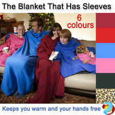 Sleeved Cuddle Blanket Throw Snuggle with Sleeves Snuggie TV Fleece Print New