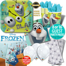 OLAF DISNEY FROZEN PARTY SUPPLIES NAPKINS PLATES CUPS BALLOONS PARTY PACKS