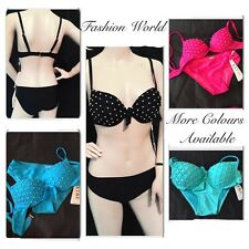 WOMENS SEXY SUMMER BEACH LINGERIE BIKINI SET SWIMWEAR SWIMSUIT TOP BRA+BOTTOM