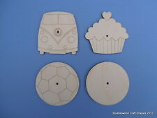 20cm Wooden Clock Face Blank Wall Plaque Sign with 8mm Centre Hole Pack of 1